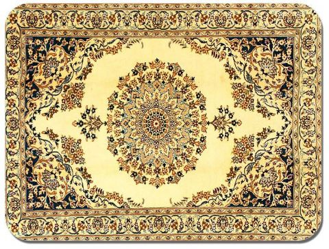 Persian Rug Design Print Mouse Mat. Vintage Carpet Print Quality Mouse Pad #9